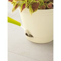 """Misco Home and Gardens 9.4"""" Ivory Self-Watering Flare Planter"""