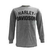 Men's T-Shirt, Long Sleeve Tee, Heritage H-D Gray 30296638, Harley Davidson