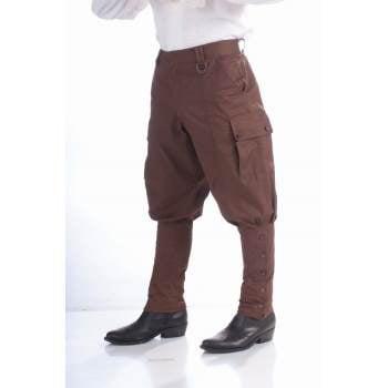 STEAMPUNK PANTS-BROWN - Steampunk Clothes Male