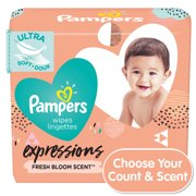 Pampers Expressions Baby Wipes, Fresh Bloom (Choose Your Count)