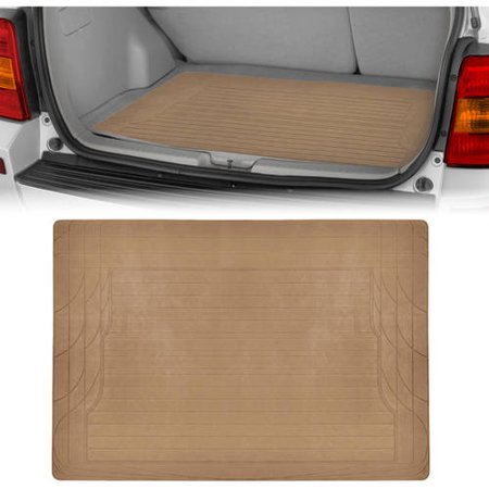 Motor Trend Cargo Trunk Floor Mat, Trimmable Utility Mat, Black
