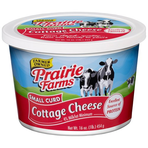 Prairie Farms Small Curd Cottage Cheese, 16 Oz.