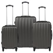 Best Choice Products Hardshell 3 Piece Luggage Set Spinner Travel Bag W  TSA Lock- Gray by
