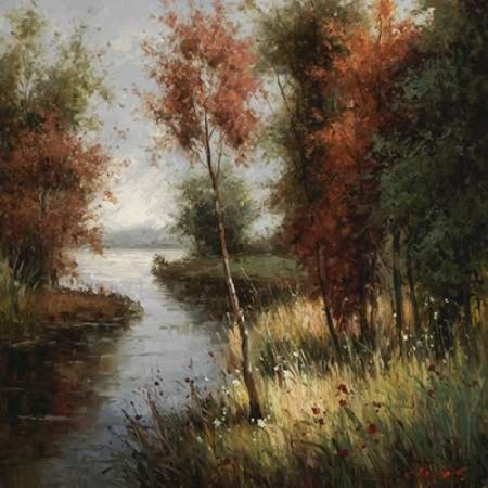 River Banks First Ray Rolled Canvas Art   Cheirns  12 X 12