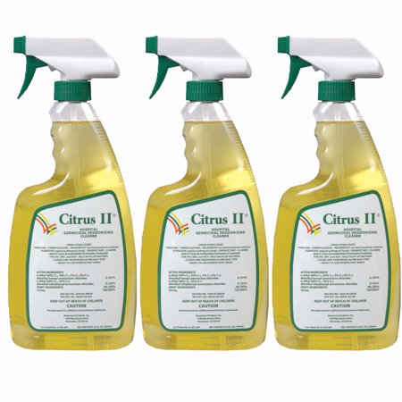 Deodorizing Upholstery - Citrus II Hospital Germicidal Deodorizing Cleaner, 22 fl oz, (Pack of 3)