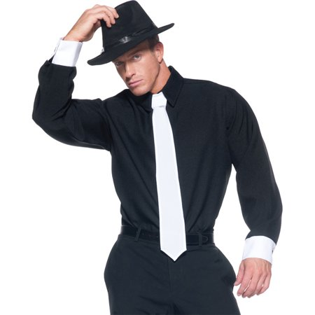 Morris Costumes Gangster Shirt Adult One Size Perfect for that gangster look and any Gatsby party, Style (Gatsby Style Male)