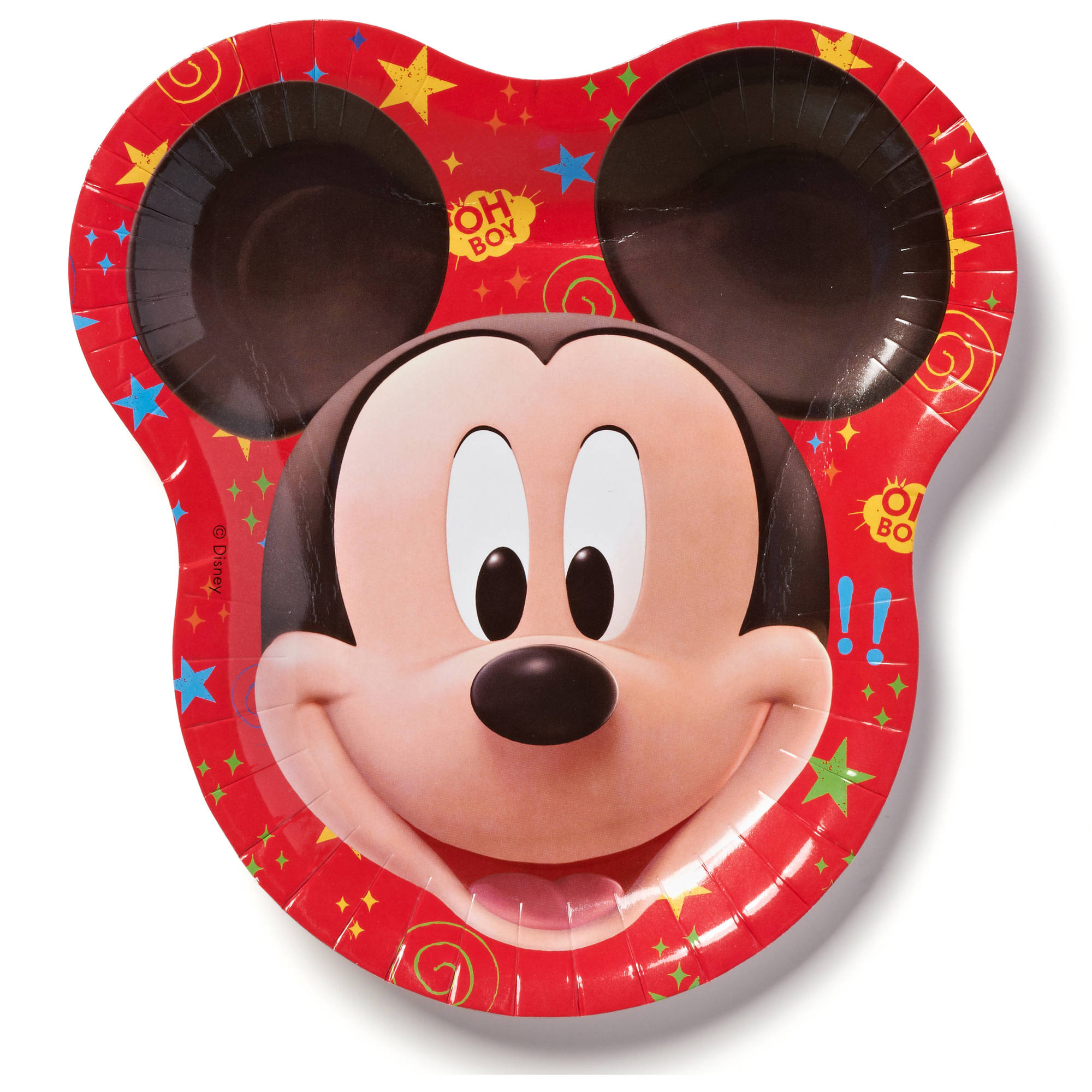 "9.5"" Mickey Mouse Paper Party Plates, 8ct"