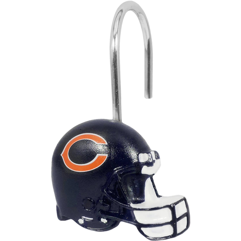 NFL Chicago Bears Shower Hooks, 12 Count