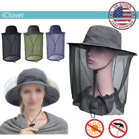 Mosquito Head Net Mesh Head Cover Black,iClover Outdoor Fishing Mosquito Mask Head Net Mesh Face Neck Protection-Anti Mosquito Anti-Bite Anti-Insect