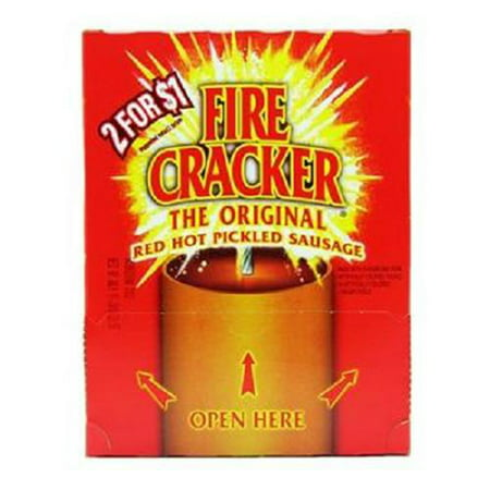 Hot Jerky (Product Of Fire Cracker, Red Hot Pickled Sausage 2/$1.00, Count 50 (0.88 oz ) - Jerkys / Grab Varieties & Flavors )