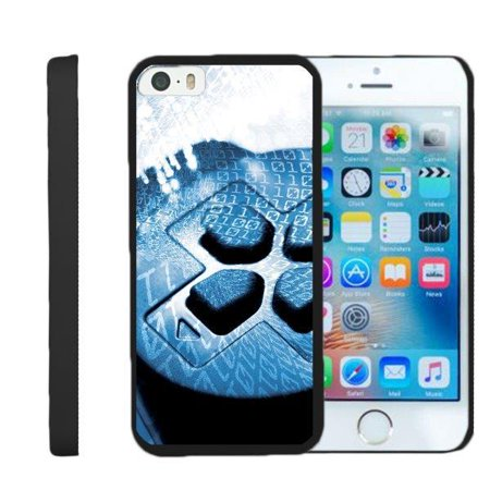 TurtleArmor ® | For Apple iPhone SE | iPhone 5 | iPhone 5s [Slim Duo] Two Piece Hard Cover Slim Snap On Case - Game Controller Buttons ()