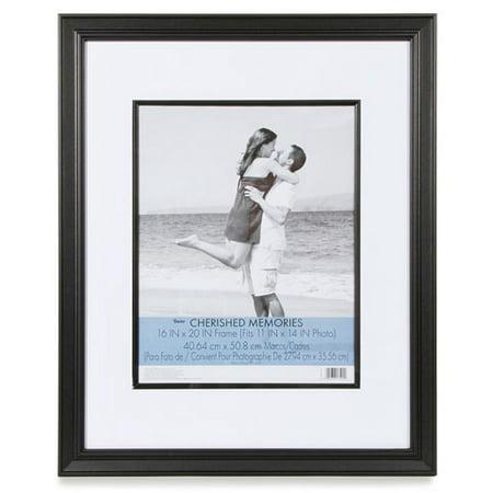 Cherish Frame - Darice Cherished Memories Double Mat Frame - Black - 16 x 20