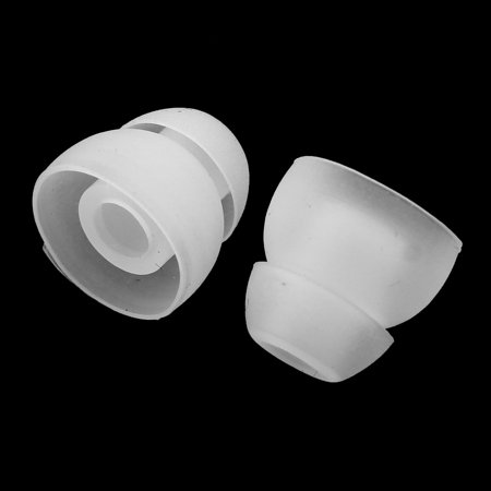 2 Layer Headphone Headset Ear Bud Cover Earphone Tip Replacement Clear 5 Pairs - image 2 de 3
