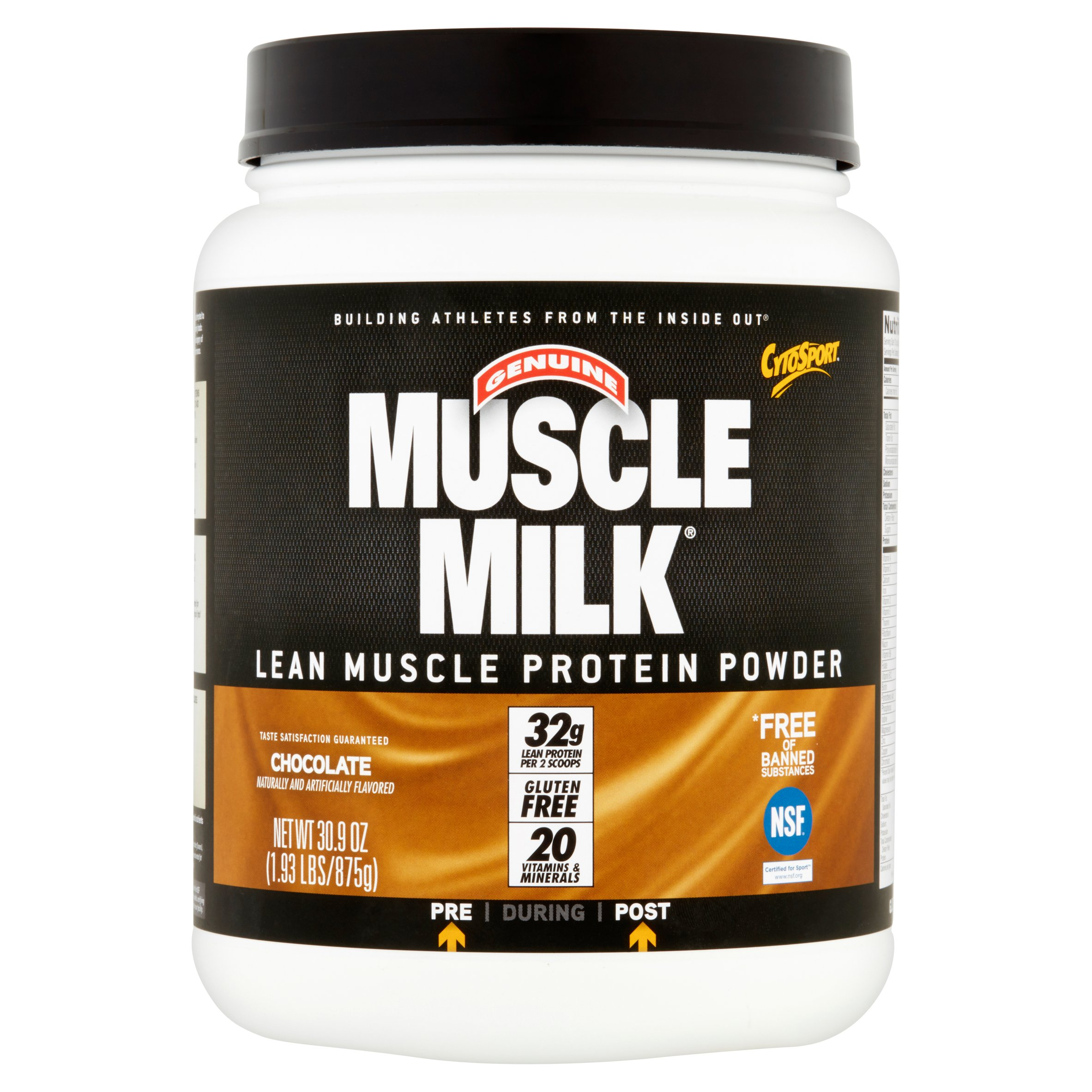 Muscle Milk Chocolate Lean Muscle Protein Powder, 30.9 oz ...