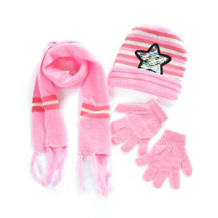 Aramox Children Gloves, Scarf,4Colors Paillette Star Winter Warm Hat&Scarf&Glove Set for 6 Months to 4 Years Old Children - Michael Jackson Hat And Glove For Kids