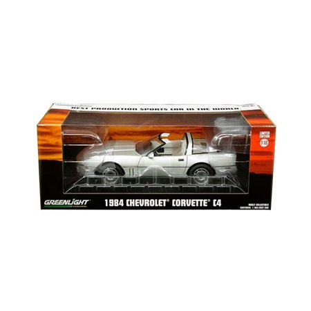 GREENLIGHT 1:18 VINTAGE AD CARS - 1984 CHEVROLET CORVETTE C4 (SILVER METALLIC)