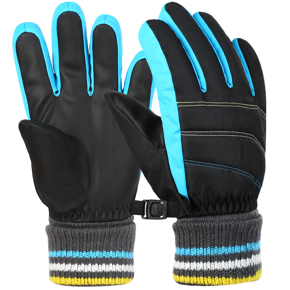 Water Splash-proof Men Warm Thick Fleece Gloves Touch Screen Skating Ski Glove