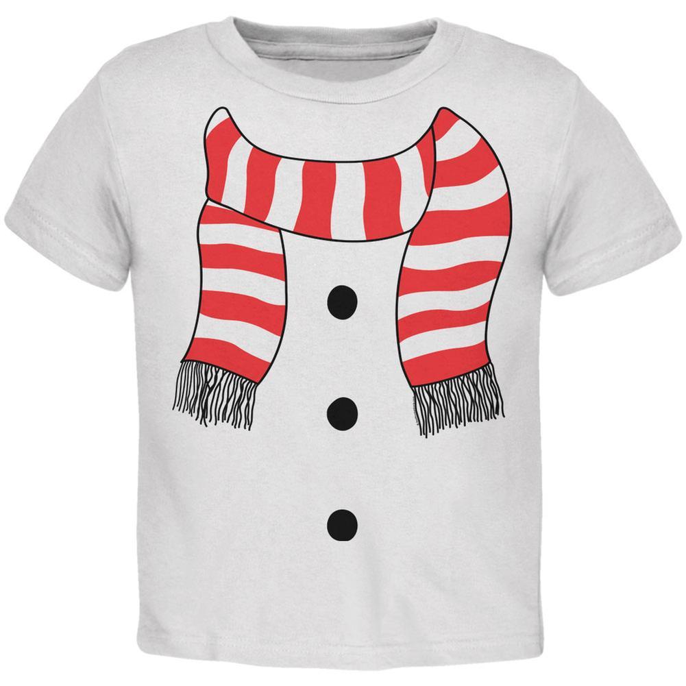 Halloween Snowman Suit Costume White Toddler T-Shirt