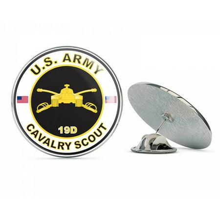 "U.S. Army MOS 19D Cavalry Scout Metal 0.75"" Lapel Hat Pin Tie Tack Pinback"