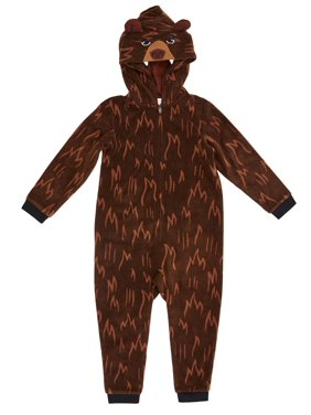 Komar Kids Toddler Boy Hooded Costume Unionsuit Pajamas