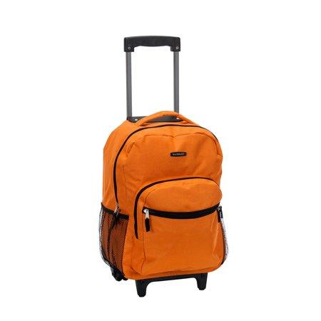 Rockland 17u0022 Roadster Rolling Backpack - Orange