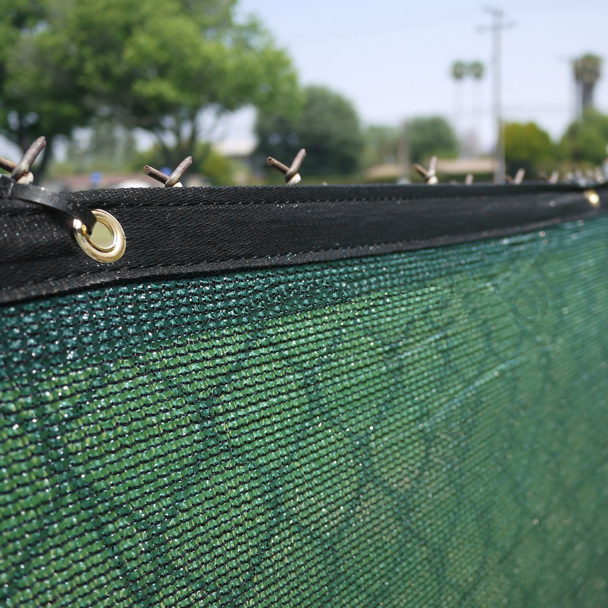 Clevr 6' x 50' Fence Wind Privacy Screen Mesh Commercial Cover with Grommets, Green | 3 Year Limited Warranty