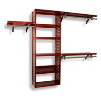 Premier 12' 6'-10' Shelving System - Red Mahogany