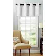 Regal Home Collections Oversized Grommet Top Window Valance - White