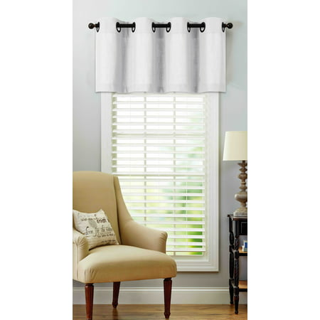 - Regal Home Collections Oversized Grommet Top Window Valance - White