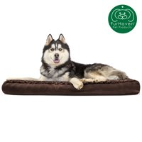 FurHaven Pet Dog Bed | Deluxe Memory Foam Ultra Plush Mattress Pet Bed for Dogs & Cats, Chocolate, Jumbo