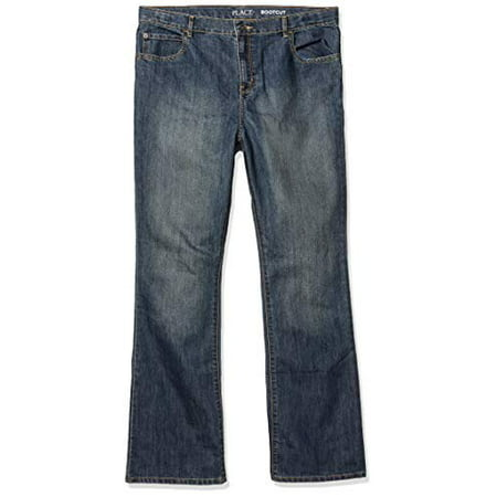 the children's place big boys' bootcut jeans, dust bowl, 14