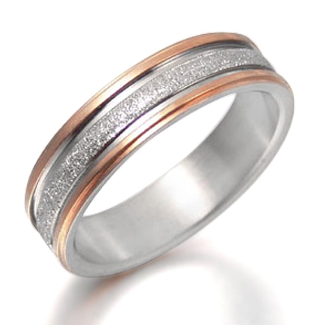 14 Women Ring Size 5 Gemini Groom /& Bride Matching Couple Titanium Wedding Engagement Rings Set 6mm /& 4mm Width Men Ring Size