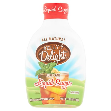 (3 Pack) Kelly's Delight Pure Cane Liquid Sugar, 16 fl oz