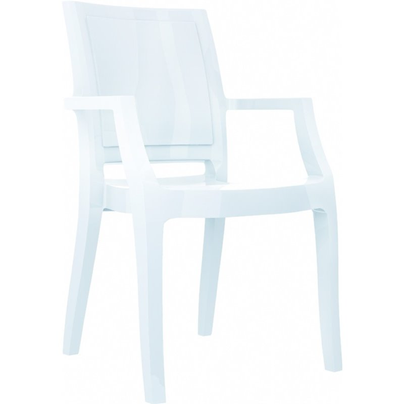 Compamia Arthur Polycarbonate Patio Dining Chair in Gloss...