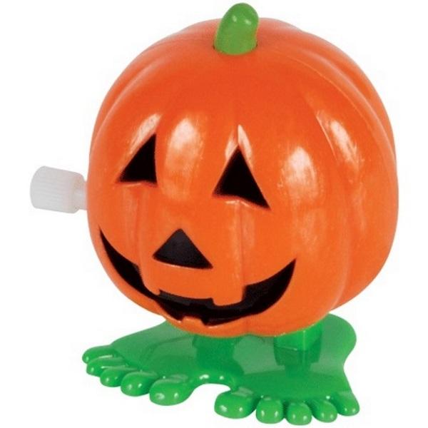 Loftus Jumping Pumpkin Jack O Lanterns Wind-Up Toy, Orange Green, 12 Pack