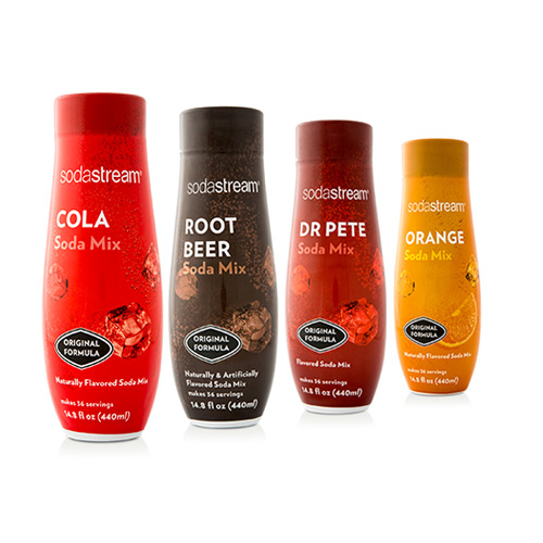Sodastream Fountain Sparkling Drink Variety Pack (4 Pack) Sodastream Fountain Sparkling Drink Variety Pack