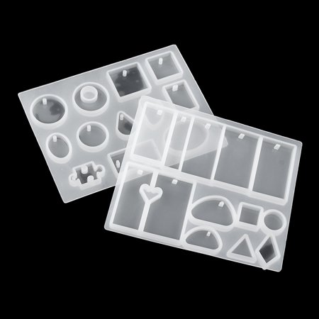 Meigar 128 Pieces Silicone Casting Molds and Tools Set Silicone Resin Mold Casting Epoxy Resin Molds for DIY Jewelry Craft Making - image 1 of 7