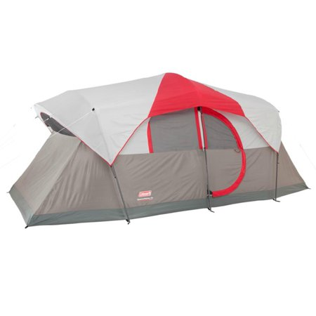 Coleman Weathermaster 10 Person 2 Room Family Camping Tent W Led Light System