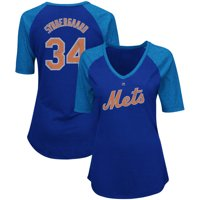 9dd93d6d Product Image Noah Syndergaard New York Mets Women's Majestic On-Field  Victory Player Name & Number V