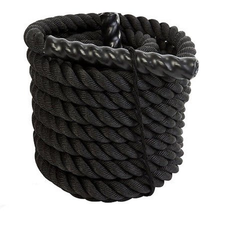 UBesGoo 1.5/2in Diameter, 30/40/50ft Length Battle Rope - Heavy Exercise Training Undulation Ropes, for Build Muscle, Cardio Workouts, Crossfit, Core