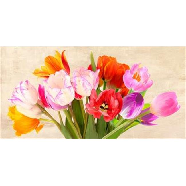 Tangletown Fine Art Tulips in Spring by Luca Villa Poster Frame - 20 x 39 x 1.5 in.