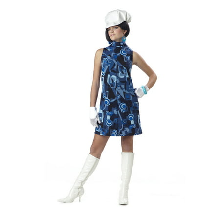Teen Mod Geometric Retro Hippie Go Go Girl Halloween Costume Jr. 3-5