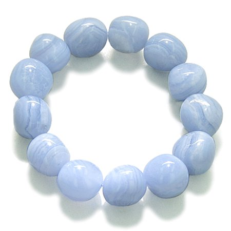 Amulet Tumbled Blue Lace Agate Crystals Good Luck Powers Gemstone