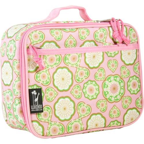 Majestic Lunch Box w Zippered Front Pocket in Pink