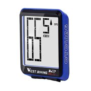Wireless Bicycles Computer Large Digital Bike Computer Odometer Speedometer Bike Thermometer Waterproof Speed Distance Time Measure with LCD Backlight