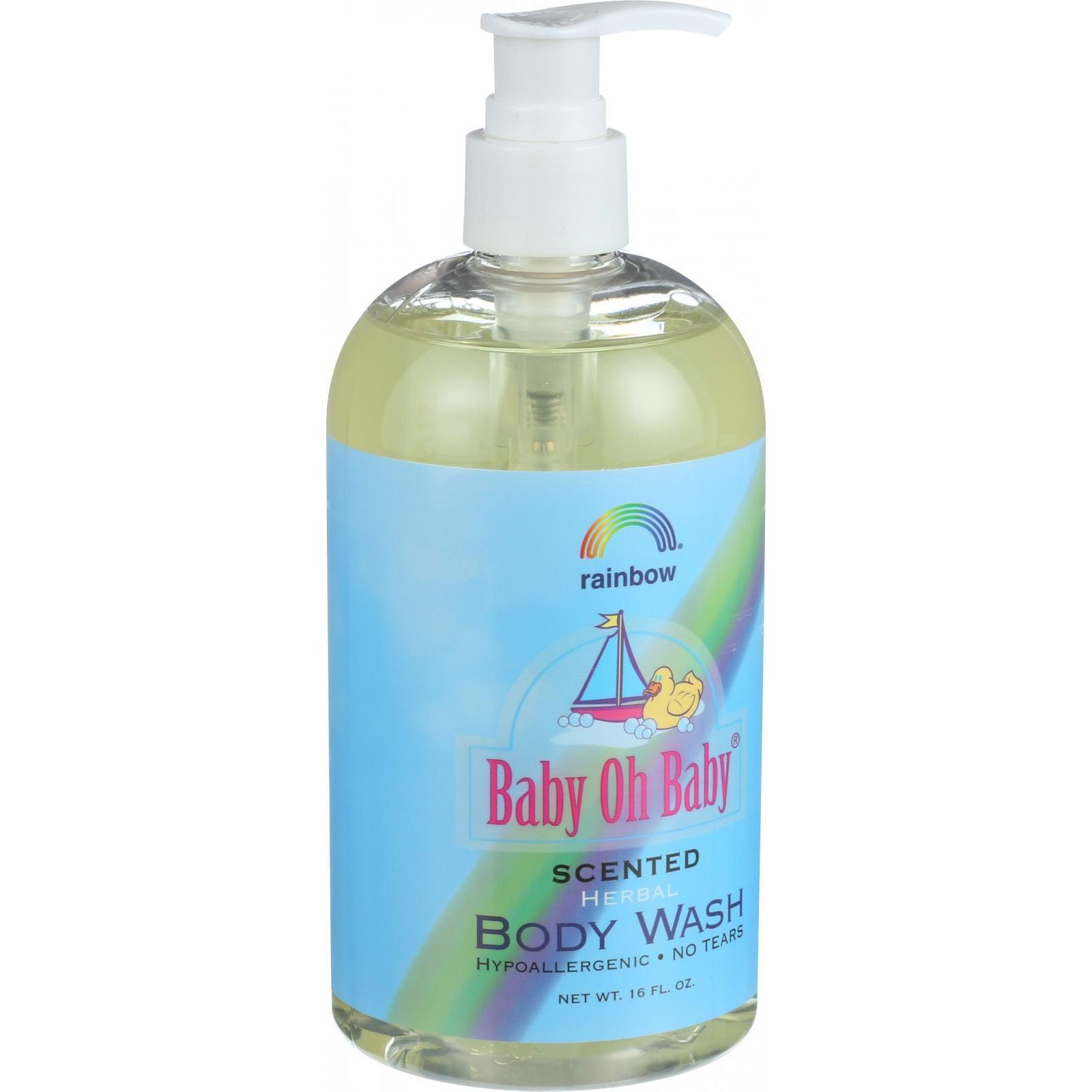 Baby Oh Baby Body Wash Scented Rainbow Research 16 Ounce Liquid