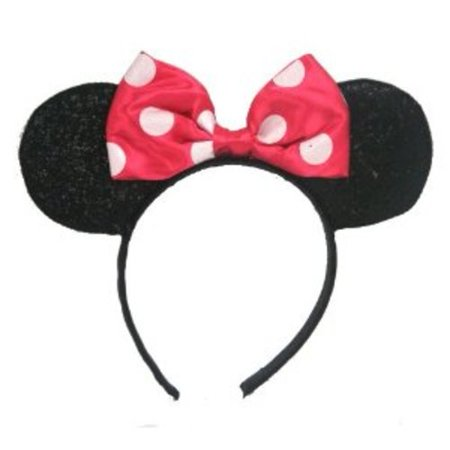 Minnie Mouse Sparkled Ears Multi-Colored - Minnie Mouse Cake Decoration