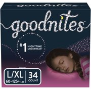 Goodnites Girls' Bedwetting Underwear, L/XL, 34 Ct