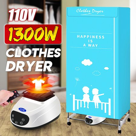 Portable Ventless Laundry Clothes Dryer Heater 1300W 110V Electric Folding Indoors Fast Air Dry Hot Drying Machine with Heater for Home & Dorms