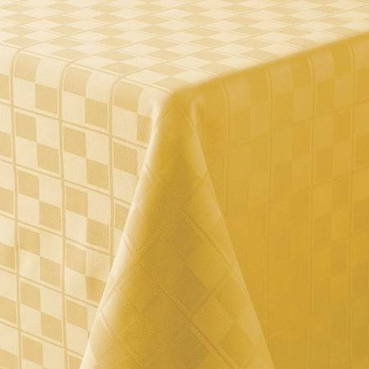 Delicieux Food Network Yellow Microfiber Tablecloth Checkered Table Cloth 70 Round